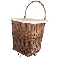 De Vielle  Large Natural Wicker Firelog Cart