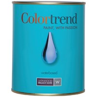 Colortrend  Satinwood Pure Brilliant White Paint - 1 Litre