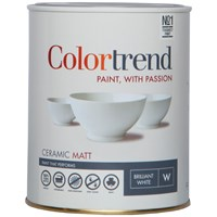 Colortrend  Ceramic Matt Pure Brilliant White Paint - 1 Litre