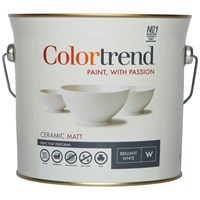 Colortrend  Ceramic Matt Pure Brilliant White Paint - 3 Litre