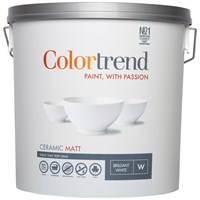 Colortrend  Ceramic Matt Pure Brilliant White Paint - 10 Litre