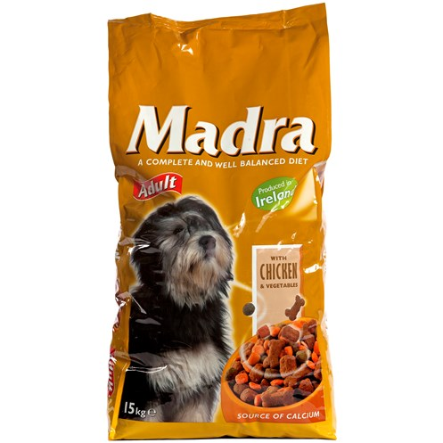 Madra  Dog Food with Chicken & Vegetables - 15kg