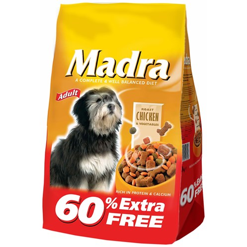 Madra  Chicken & Vegetables Dog Food - 2.5kg + 60% Extra Free
