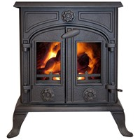 Green Stoves  10kW Boiler Stove - Matt Black