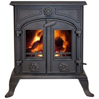 Green Stoves  30kW Boiler Stove - Matt Black
