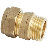 UEL  611 Compression Straight Brass Pipe Fitting - 3/8in x 10mm