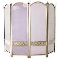 De Vielle  Heritage Celtic Collection 4 Fold Fire Screen Ant Brass Finish