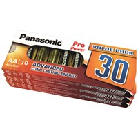 Panasonic  Pro Power Alkaline AA Batteries Pack of 30