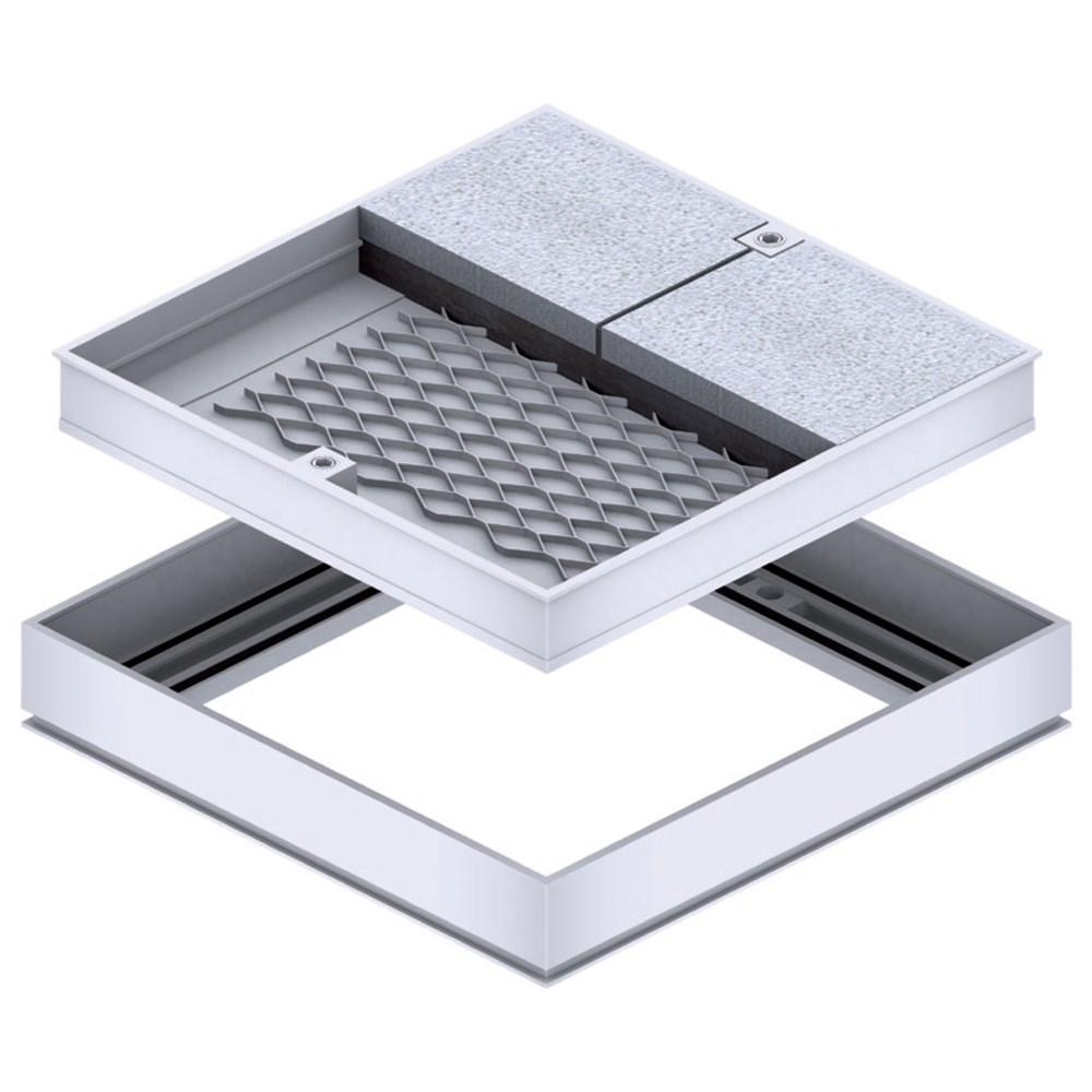 Galco aluminium recessed access cover frame for tiles
