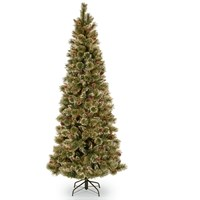 National Tree Company  Glittery Bristle Pine Christmas Tree - 6.5ft