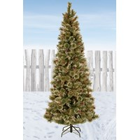 National Tree Company  Glittery Bristle Pine Christmas Tree - 7.5ft