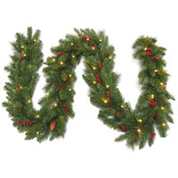 National Tree Co  Everyday Collection Pre-Lit Garland - 9ft x 12 inches