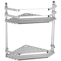 Euroshowers Satina Double Corner Basket